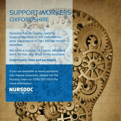 Support Worker Oxfordshire